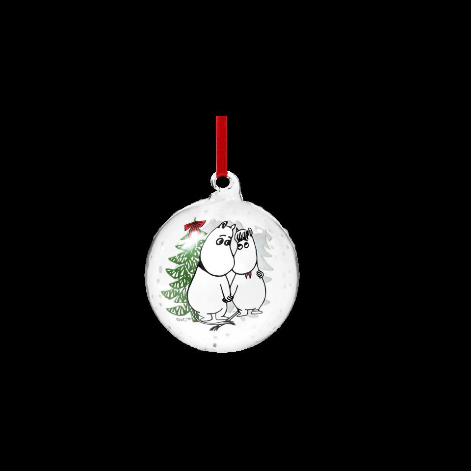 Muurla Moomin decoration ball 9cm – Moomin & Snorkmaiden 741-090-12 6416114961733 1